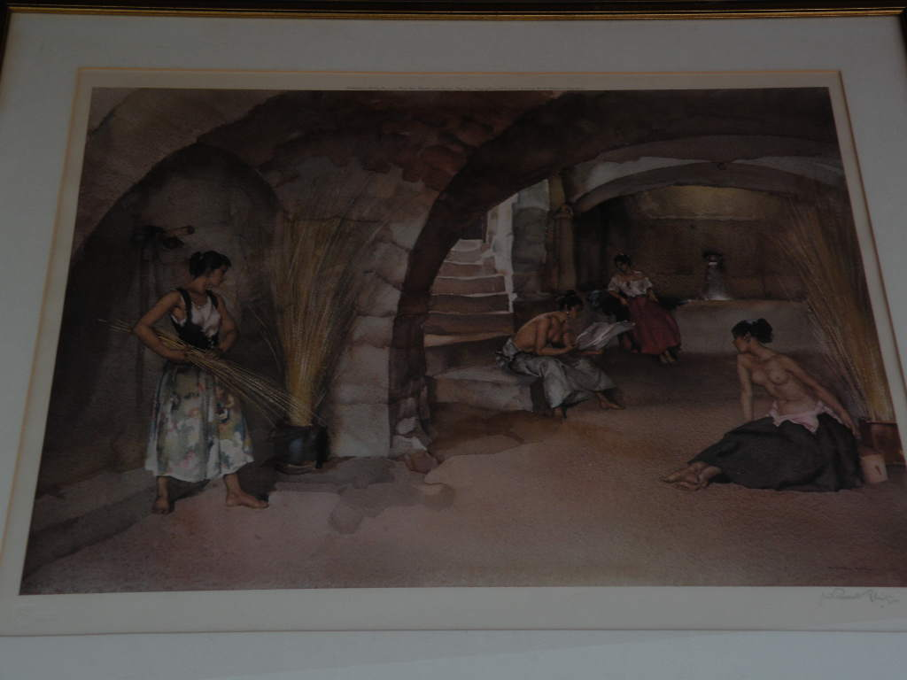 WILLIAM RUSSELL FLINT (1880-1969) important English 20th century watercolor artist limited edition signed photolithograph print