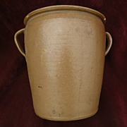 American folk art stoneware two gallon crock