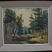 Canadian art beautifully executed impressionist painting signed EOLA SUTHERLAND