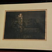 GEORGE ELBERT BURR (1859-1939) Southwestern American artist European scene etching print