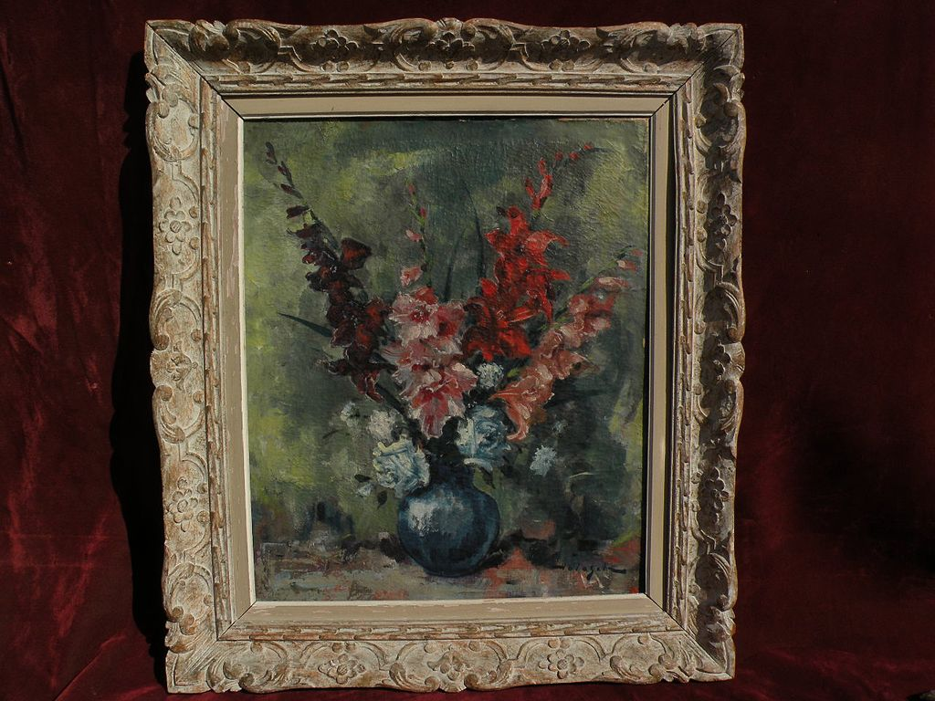 DENES DE HOLESCH (1910-1983) impressionist still life painting by noted Hungarian master