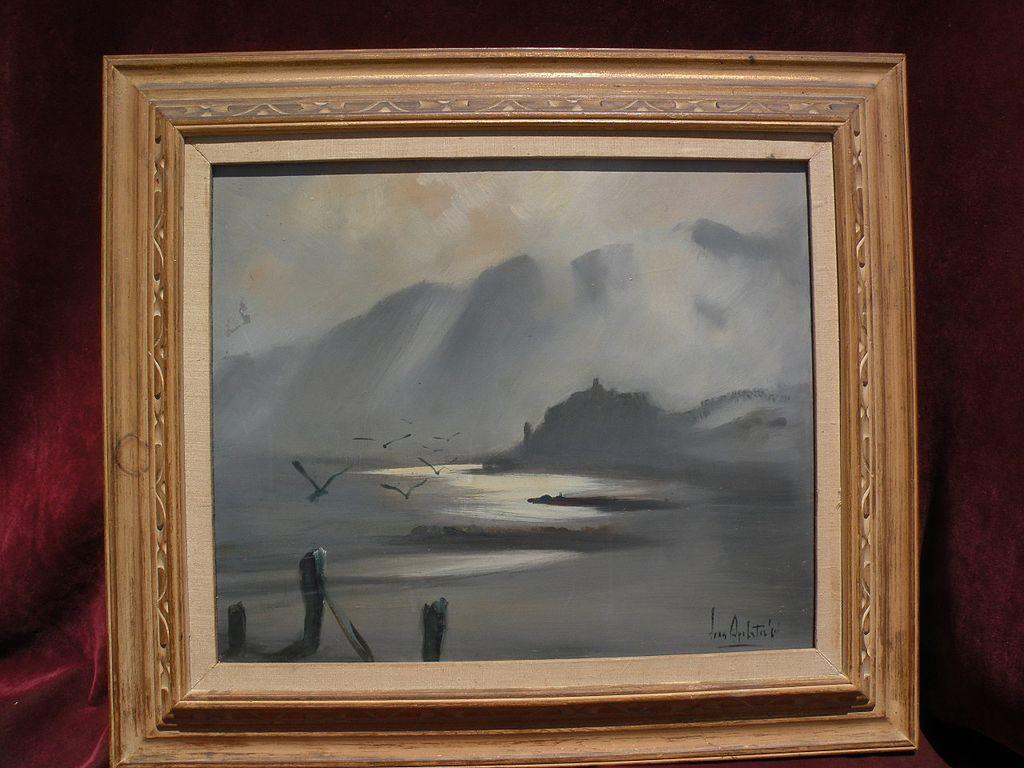 Australian art impressionist coastal landscape painting dated 1964 signed Jean Appleton