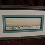 EPHRAIM FRANK LINCOLN (circa 1900) American signed 19th century coastal watercolor painting marine art