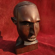 African wood carving mid twentieth century possibly from Zambia