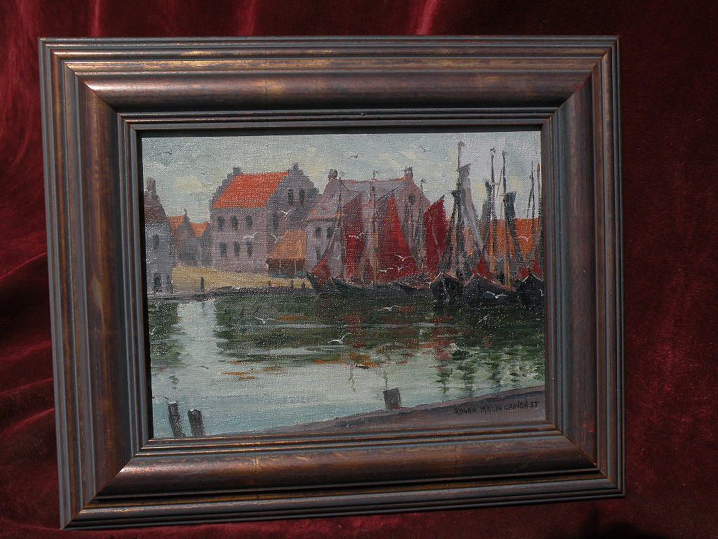 EDGAR MALIN CRAVEN (1891-1960) American impressionist art painting of Denmark