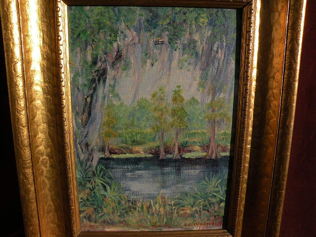 Southern regionalist art impressionistic landscape oil painting