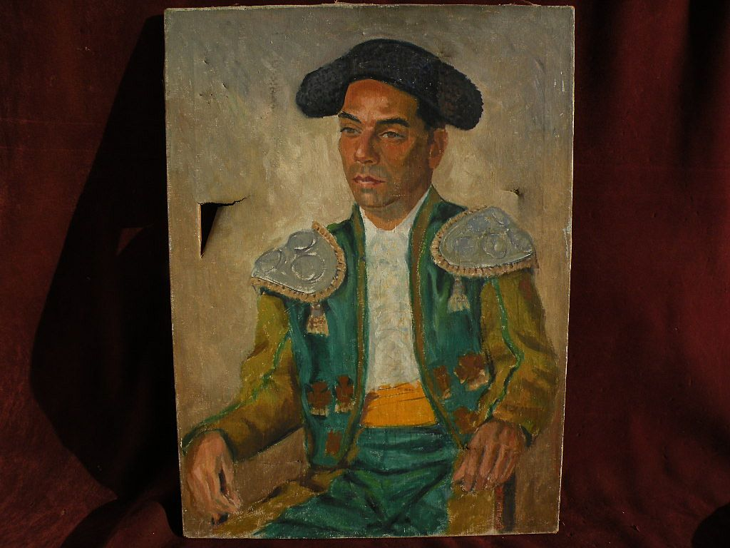 JOSEPH WEISMAN (1907-1994) California impressionist art oil painting of matador