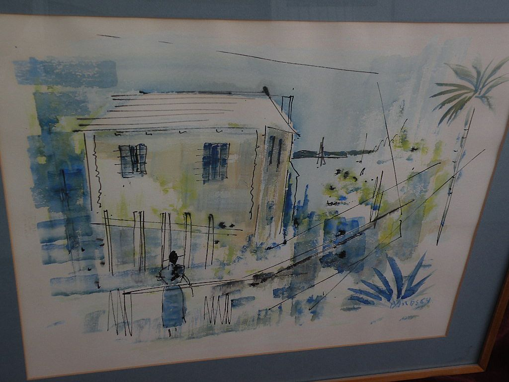 ALFRED BIRDSEY (1912-1996) original painting by well known Bermuda artist