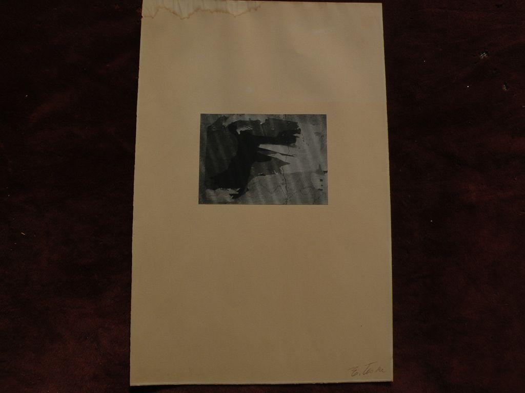 EDMUND TESKE (1911-1996) original vintage modernist photography image mat signed