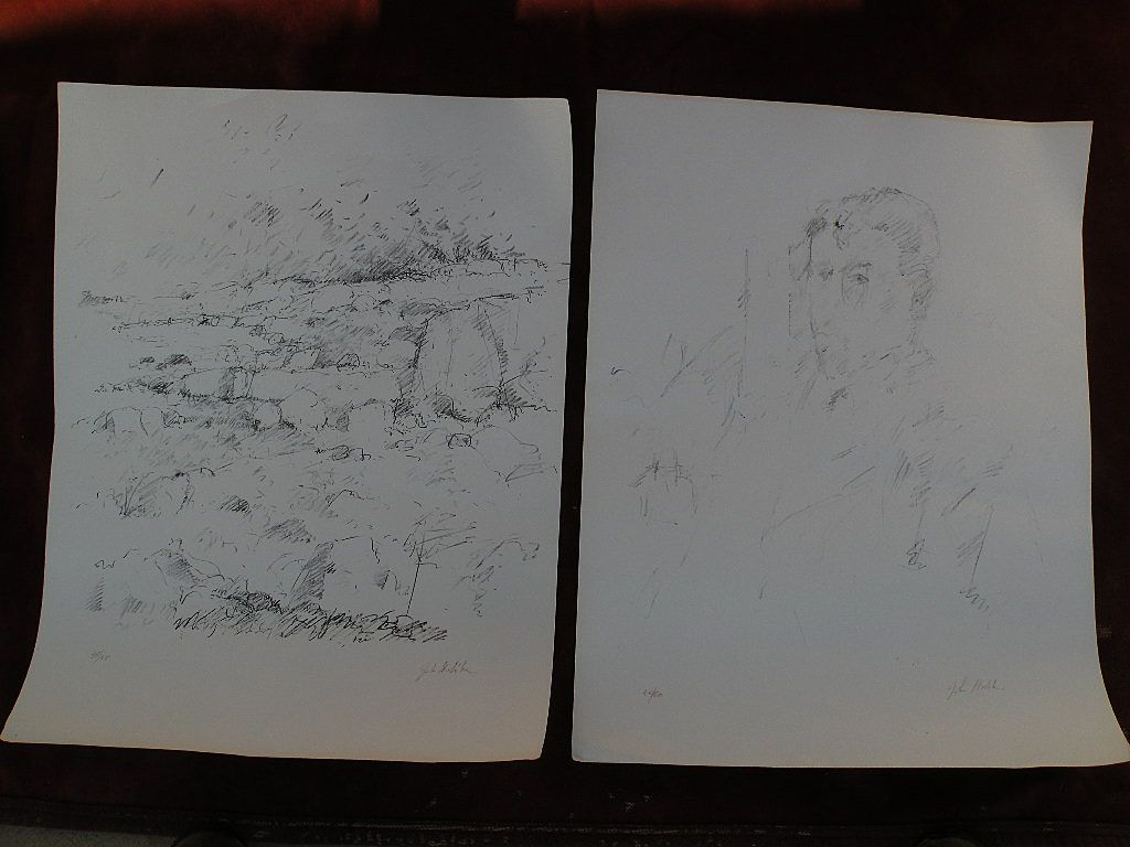 JOHN EDWARD HELIKER (1909-2000) **two** pencil signed limited edition lithographs by important American realist painter