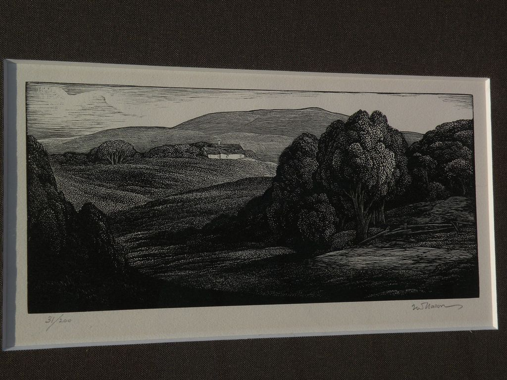 THOMAS W. NASON (1889-1971) American art fine pencil signed print limited edition wood engraving