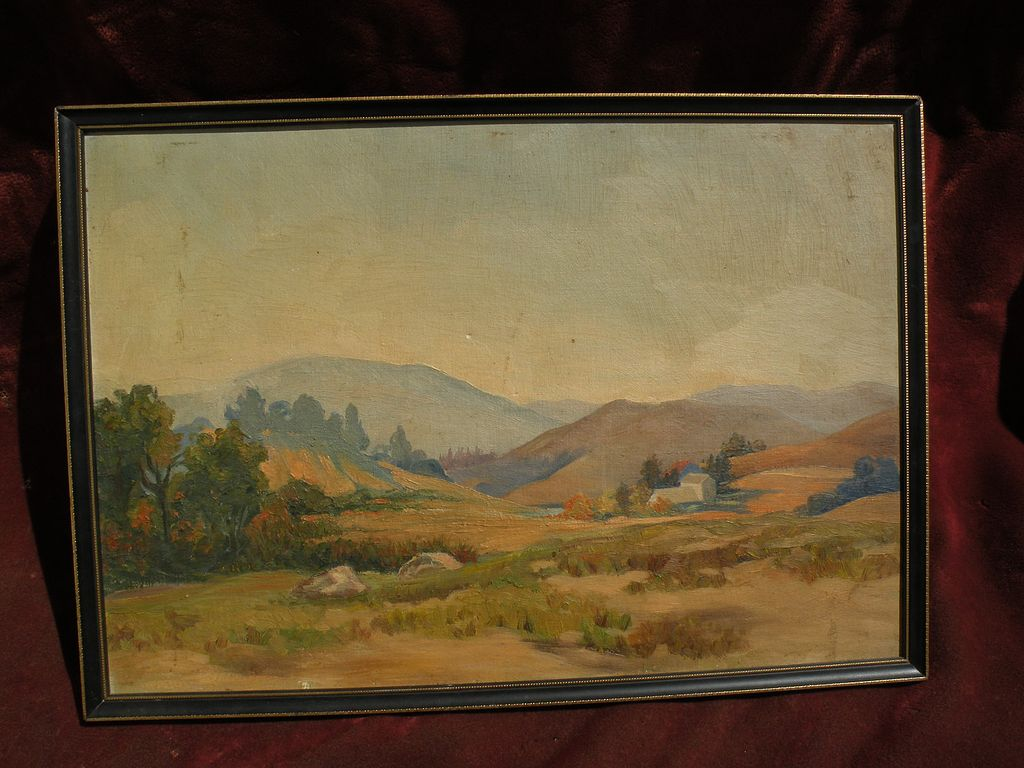 Impressionist decorative landscape painting