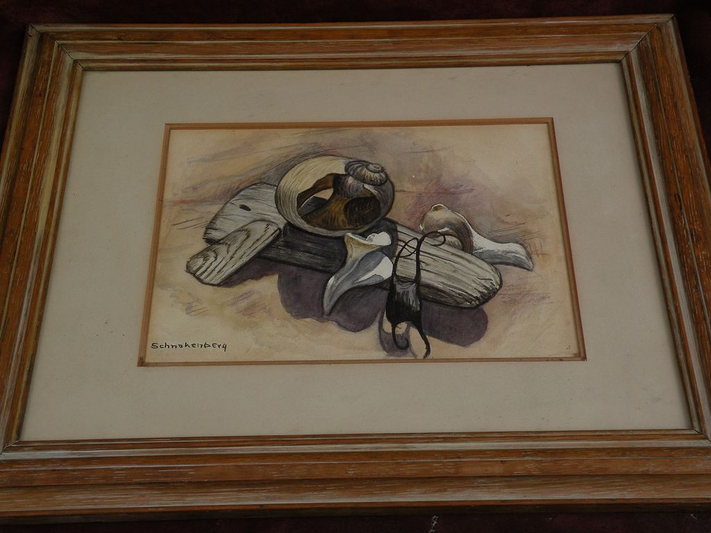 HENRY ERNEST SCHNAKENBERG (1892-1970) fine naturalistic watercolor drawing by well known American 20th century artist