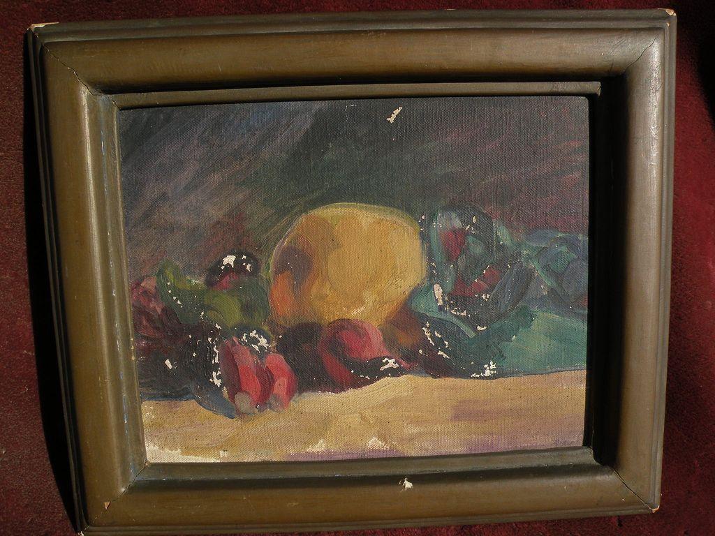 CHARLES JOSEPH RIDER (1880-1955) modernist California art still life study painting