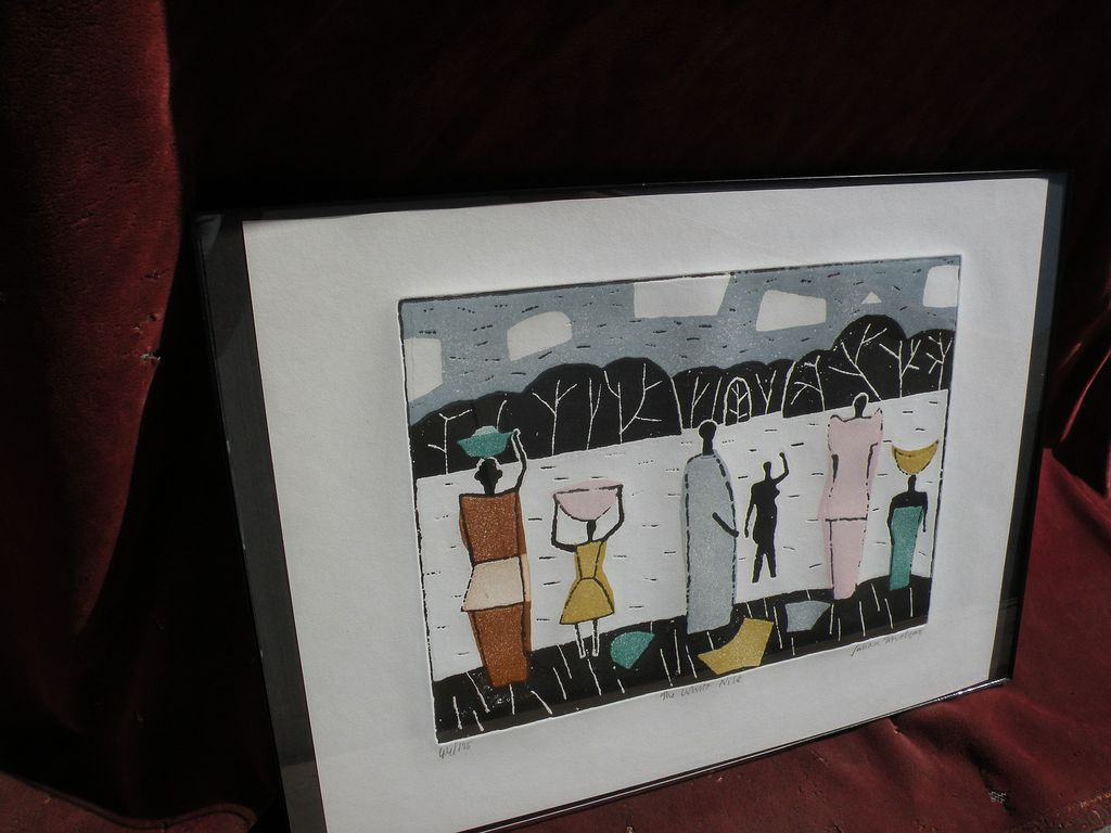 JULIAN TREVELYAN (1910-1989) signed numbered print by well known English modern artist and poet