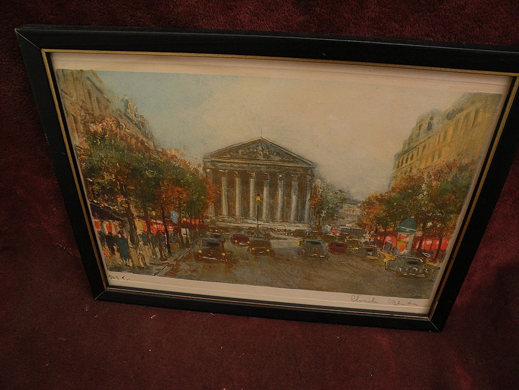 CHARLES BLONDIN (1913-1991) Paris impressionist street scene pencil signed limited edition color print