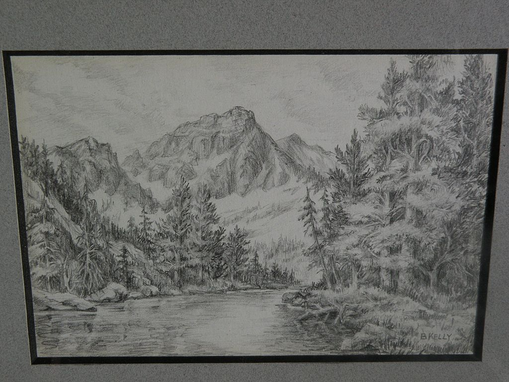 how to draw a lake with pencil