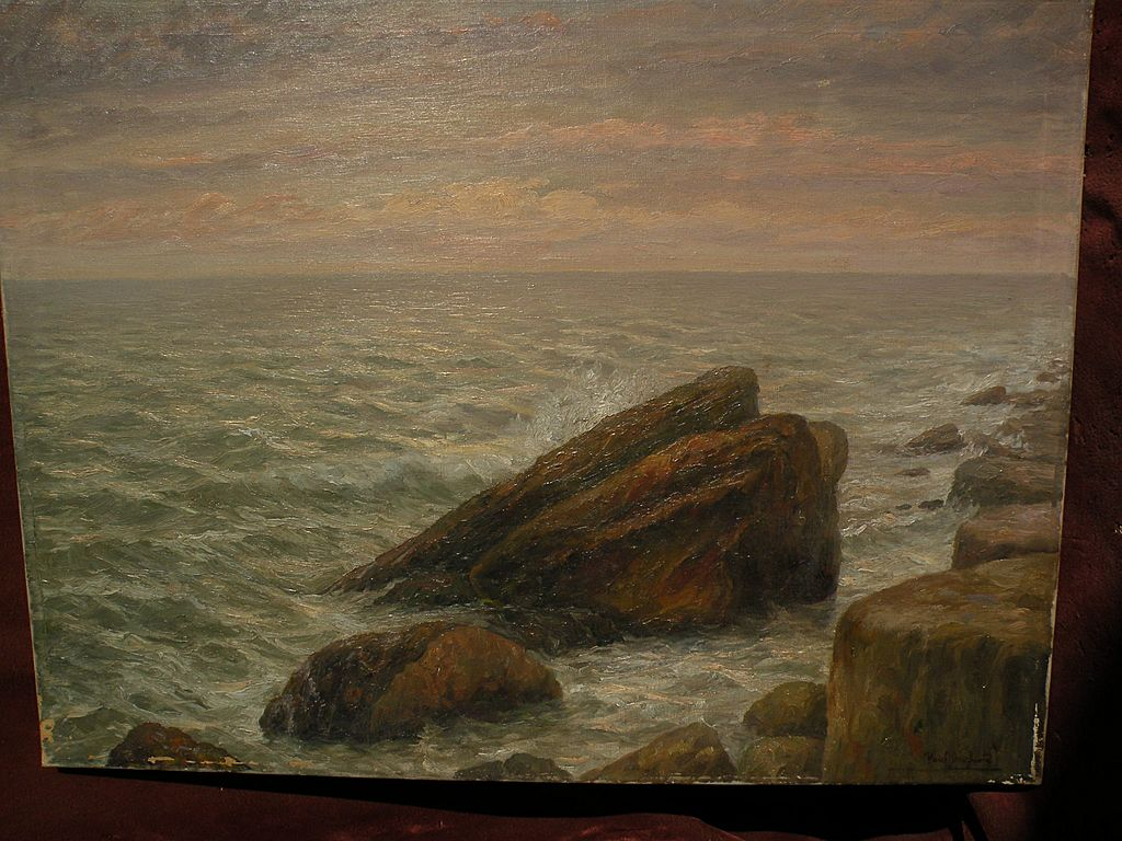 PAUL DOUGHERTY (1877-1947) impressionist coastal seascape painting by well listed American artist