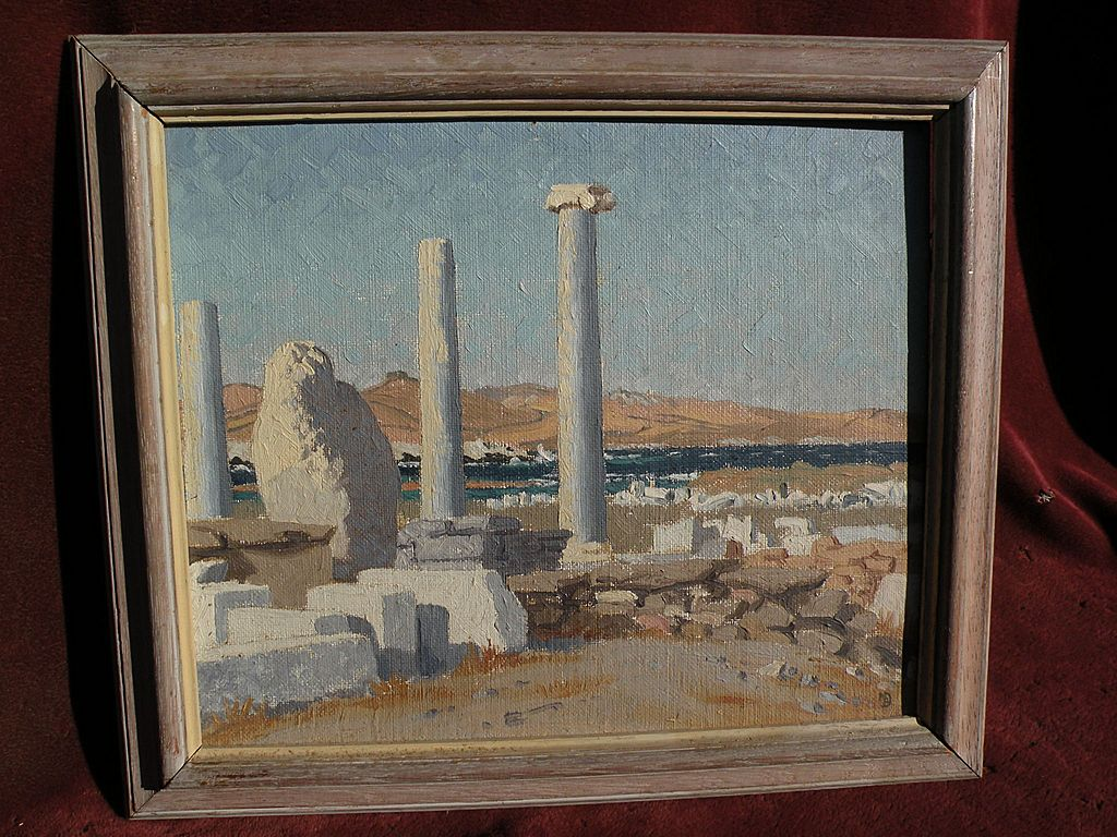 Greek Art impressionist painting by English artist Nancy Ballantine-Dykes circa 1940