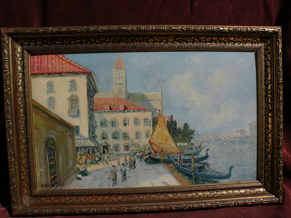 Venice Italy impressionist painting after American artist Arthur Diehl