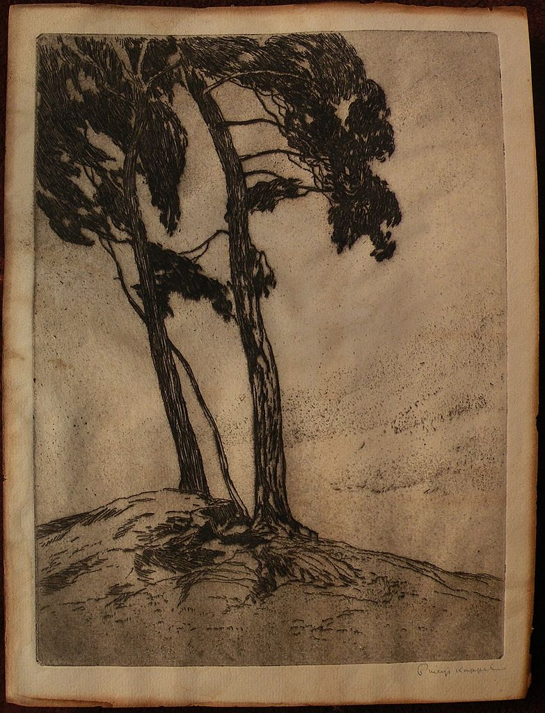 PHILIP KAPPEL (1901-1981) pencil signed etching print by noted Connecticut artist