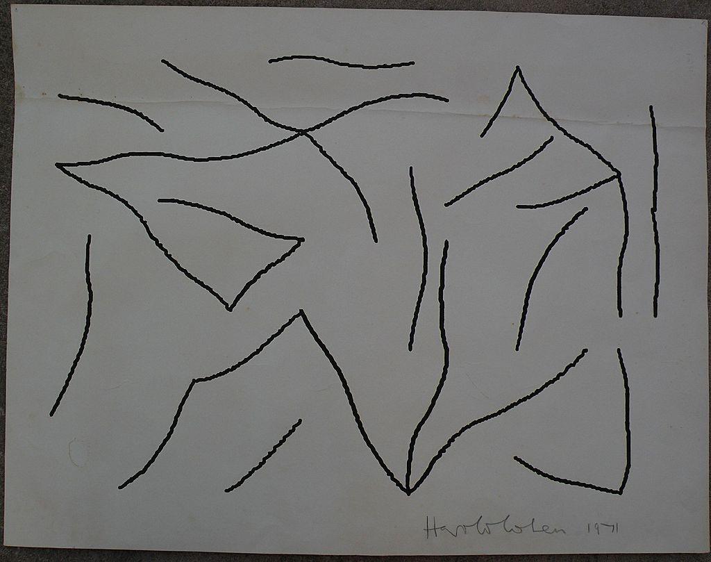 HAROLD COHEN (1928-) modern British art original drawing dated 1971
