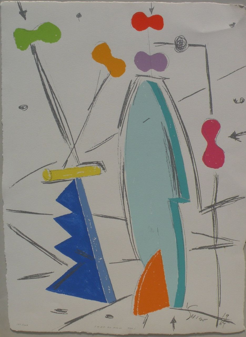 PETER SHIRE (1947-) internationally known California artist original pencil signed screen print