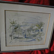 ALFRED BIRDSEY (1912-1996) Bermuda art original drawing