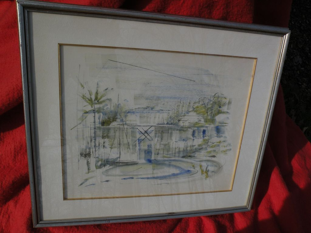 ALFRED BIRDSEY (1912-1996) Bermuda art original drawing