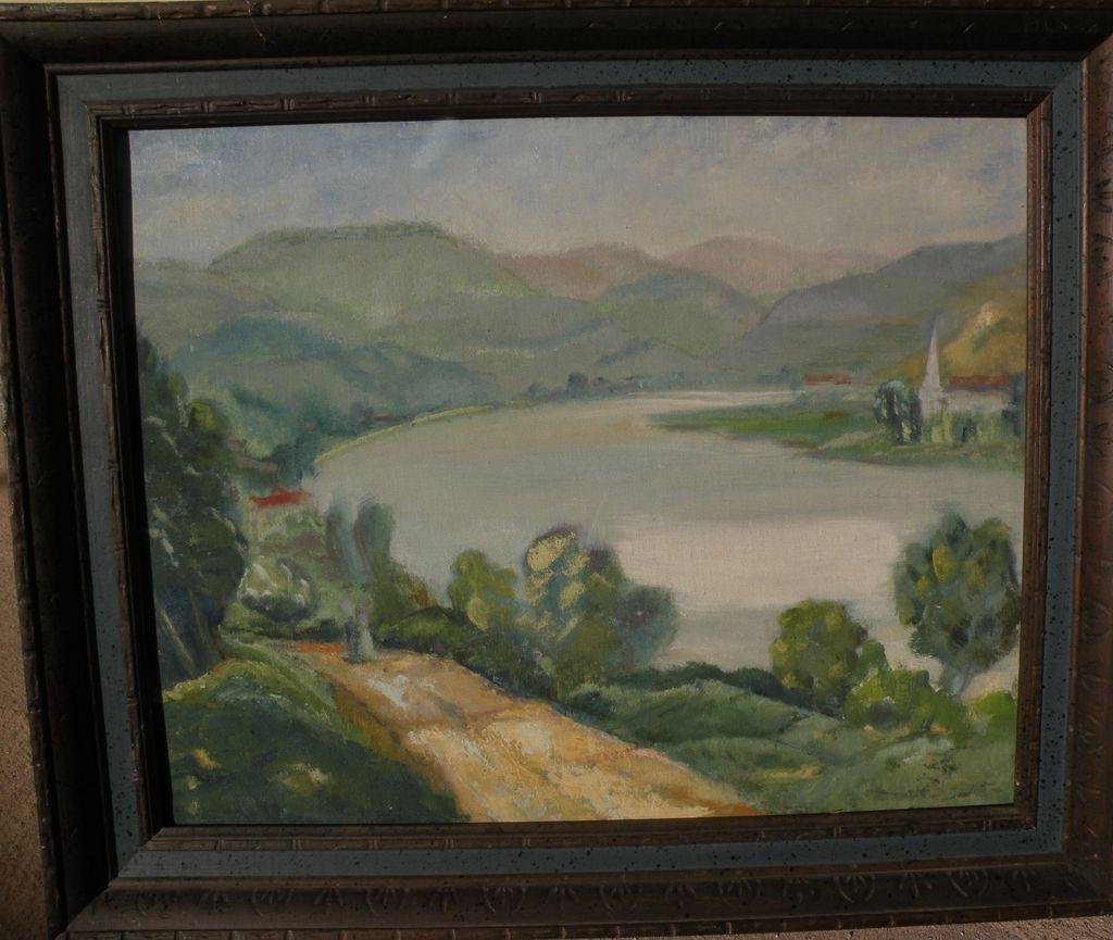 American impressionist landscape painting