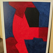 SERGE POLIAKOFF (1906-1969) original lithograph print by major Russian French modern artist‏