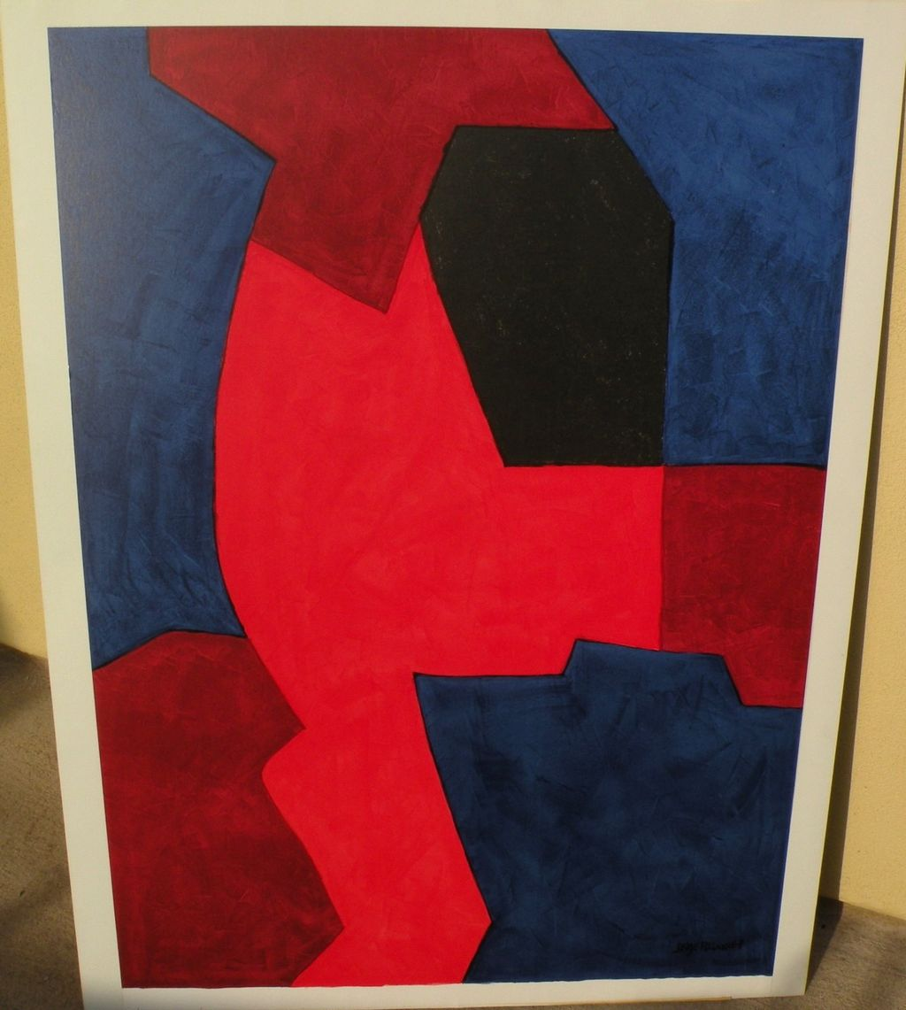 SERGE POLIAKOFF (1906-1969) original lithograph print by major Russian French modern artist
