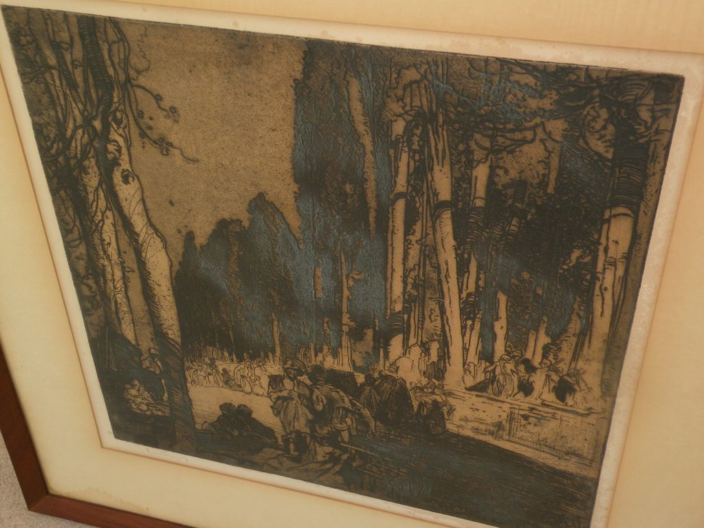 FRANK BRANGWYN (1867-1956) large etching by important English artist