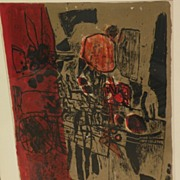 CORNEILLE (1922-2010) pencil signed aquatint etching limited edition print dated 1960 by important Dutch artist