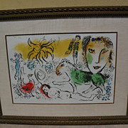 "MARC CHAGALL (1887-1985) original lithograph in colors ""Monumental"" 1973 Collector's Guild edition‏"