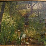 "WILDER DARLING (1856-1933) Ohio art impressionist landscape by influential ""Dean of Toledo Artists"""