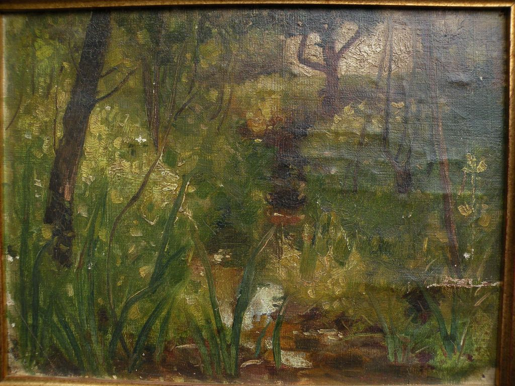 "WILDER DARLING (1856-1933) Ohio art impressionist landscape by influential ""Dean of Toledo Artists"""