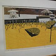 JUNICHIRO SEKINO (1914-1988) Japanese woodblock print by Sosaku Hanga master artist