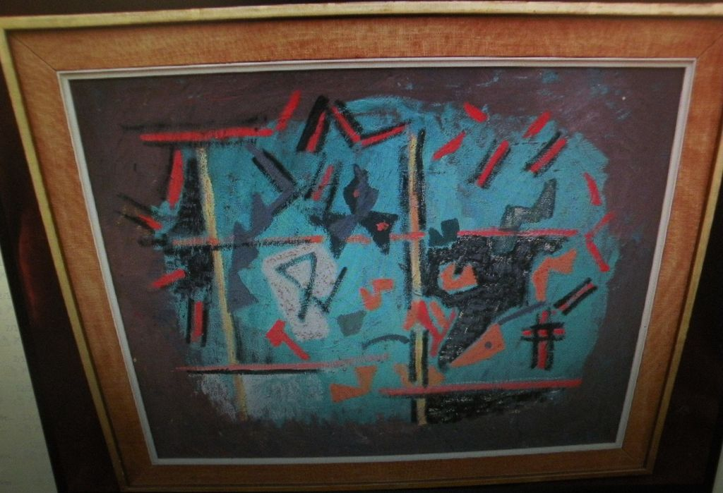 LOUIS SCHANKER (1903-1981) American abstract art painting by well listed artist and teacher