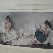 "WILLIAM RUSSELL FLINT (1880-1969) important English 20th century watercolor artist limited edition signed photolithograph print ""Interlude"""