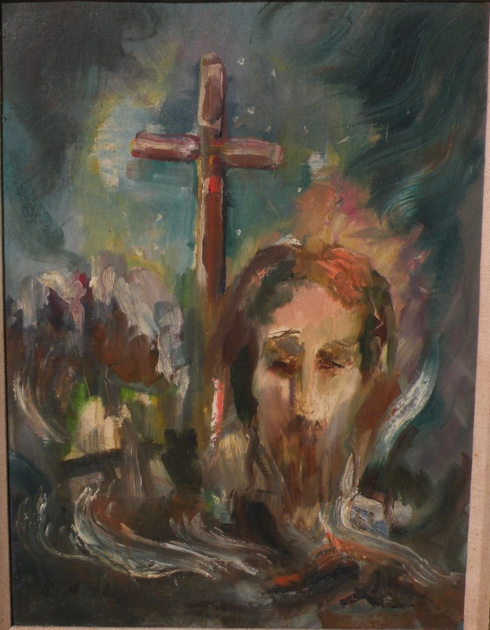 willy stahl 1896 1963 expressionist painting of jesus and the
