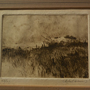 MICHAEL B. COLEMAN (1946-) pencil signed limited edition etching by well known western American artist