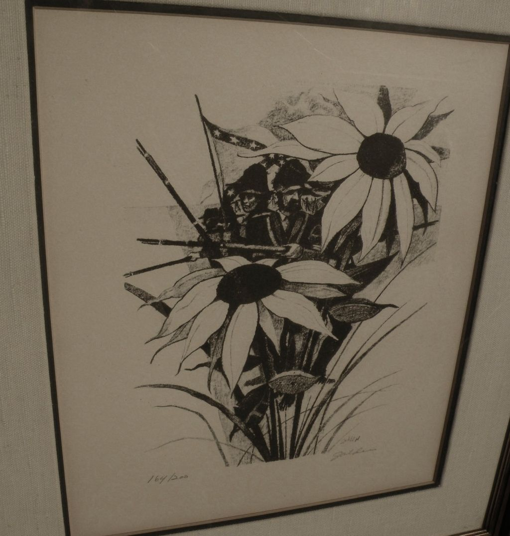 ROLLAND HARVE GOLDEN (1931-) pencil signed lithograph by the noted New Orleans Louisiana artist