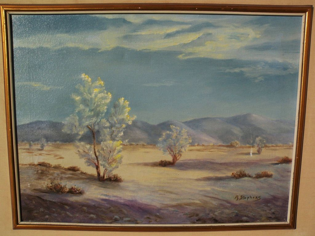 AILEEN POWERS STEPHENS (1889-1982) California art plein air desert painting