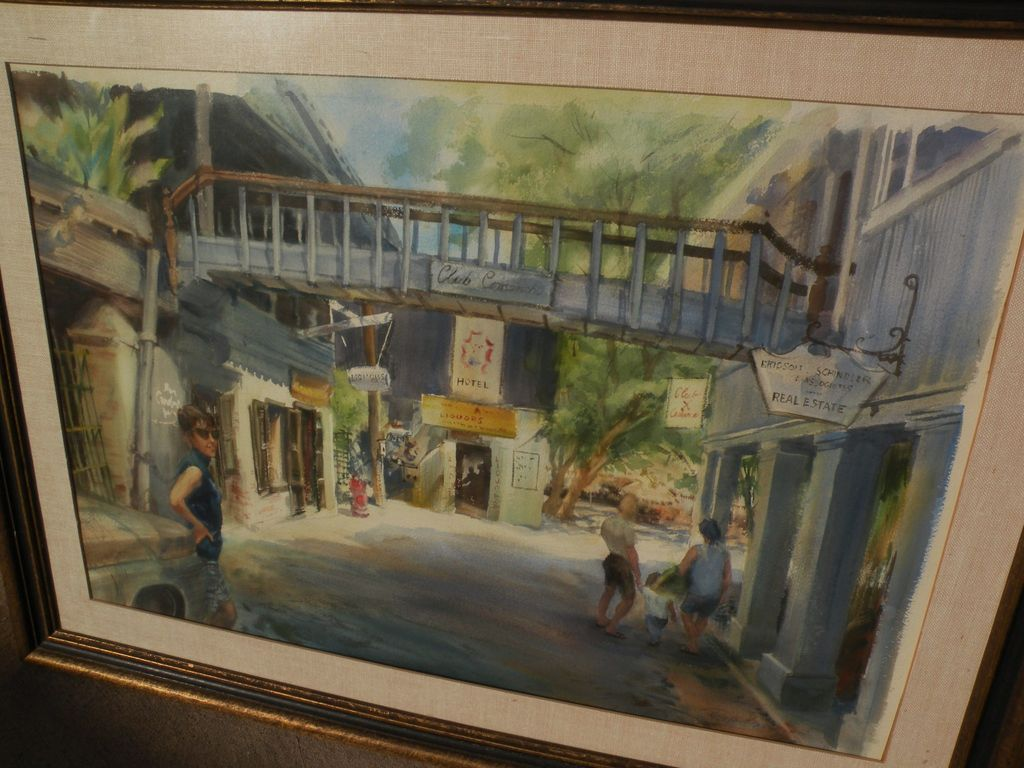 RUTH BADERIAN (1927-2010) fine watercolor painting of Virgin Islands by listed watercolorist and teacher