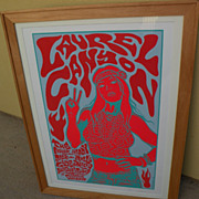 "JERMAINE ROGERS entertainment memorabilia 2006 signed numbered limited edition silkscreen print ""Laurel Canyon"""
