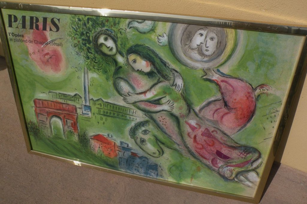 "MARC CHAGALL (1887-1985) original lithograph print ""Romeo and Juliet"" printed by Mourlot"