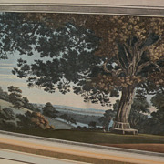 JOSEPH FARINGTON (1747-1821) **PAIR** fine aquatint engravings of English landscape scenery nicely framed