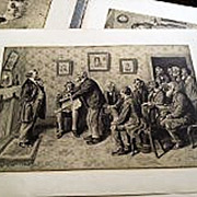 ARTHUR BURDETT FROST (1888-1966) folio of six prints by the important American illustrator artist‏