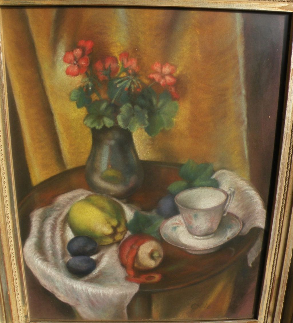 MARION VALE OLDS (1901-1993) California art fine pastel still life painting
